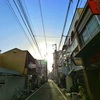 松山市繁華街の朝陽