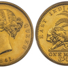インド/イギリス 東インド会社 1モハー金貨PCGS PR61
