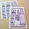 minne ブルックリン風 猫デザインポストカード