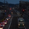 9/25 夕刻の豊橋を駆け抜ける市電