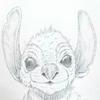 ハワイに住んでる未確認生物をリアルに描いてみるアタシ③。(ディズニーのスティッチではないよ。て言ってみる(←)。