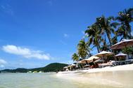 【サオビーチ】フーコック島の真っ白な砂浜でリゾート気分ブランコ遊び