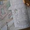 クーピーペンシルでパン屋さんのページを塗り始めました・憧れのお店屋さんより
