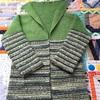 1年越し、OPALの毛糸で編んだカーディガンが完成しました!