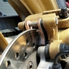 VTR250(09)のリアブレーキパッドを交換しました