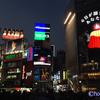 渋谷交差点に市川由紀乃の巨大広告看板が!
