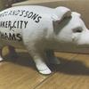 DETAIL INC.(ディテールインク)『Hams Standing Pig Bank(ハムズ スタンディング ピッグ バンク)』キャッシュレス時代に余りやすい小銭を貯めるブタの貯金箱。