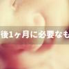 ☆出産後1ヶ月間の間に必要なものリスト☆