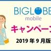 BIGLOBEモバイルキャンペーン 月額料金18ヶ月割引が人気!