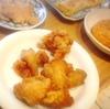 鶏唐揚げ、かぼちゃコロッケ、鮪ソテー、玉子焼き
