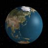 はてなブログ カスタマイズ three.jsをブログ中に埋め込む : 3D地球儀を表示