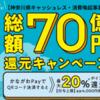 神奈川県のキャッシュレス・消費喚起事業「総額70億円還元キャンペーン」7月スタート!
