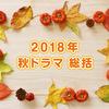 2018年 秋ドラマ 総括 〜視聴した20作品をランキング付け