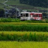 農村景観日本一!もある明智鉄道の撮影