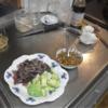 幸運な病のレシピ( 2508 )夜:鰹タタキ、アボガド、冷凍もの、汁