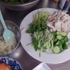 幸運な病のレシピ( 1438 )夜 :蒸し鳥のニンニクマヨネーズ、なめこの煮付け、魚(三種)、汁(仕立て直し)