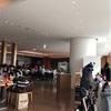 成田空港JALサクララウンジに来ています