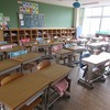 3年生:がらんとした教室 学級閉鎖