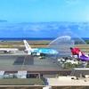 ハワイの飛行機