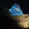 大阪城と通天閣の自粛緩和のライトアップ