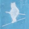 綱渡りをする熊の絵を描きました