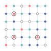 格子点を2色で塗り分ける問題