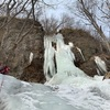 能取岬 オコジョの滝&三本柱の滝 アイスクライミング