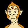 猿のバストショット のイラスト
