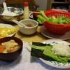 夕食は手巻き寿司