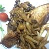 晩御飯は天然鯛のバター醤油ソテー、沖縄もずくと手作り生姜酢の和え物