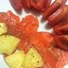 スモークサーモンとパイナップルのマリネ