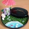 日本庭園をイメージした乳歯入れを作ってみました!