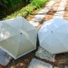 100%紫外線をカットする日傘!サンバリア100の折りたたみ日傘の二段折、三段折のレビュー