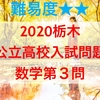 2020栃木県公立高校入試問題数学解説~第3問「連立方程式・資料の整理」~