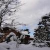 冬の梅雲亭で。