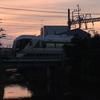 東武鉄道 夕焼けのリバティーを撮影しました