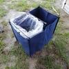 キャンプ場でゴミ袋を隠す強い味方ダストスタンド