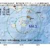 2017年10月02日 04時20分 種子島近海でM4.3の地震