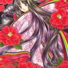 「椿の衣」色鉛筆&鉛筆オリジナル平安イラスト:熱っぽくても休めない日本人