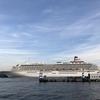 【みなとみらい】大桟橋、豪華客船と海と空