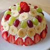 遅く起きた朝はフルーツたっぷりのケーキ♪ そしてタコライスのランチ♪