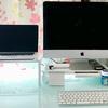 【Mac】モニター台を購入してパソコン周りを整理整頓。視線も上がり快適