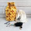 伝統柄の編み込み靴下(1) 編み始め
