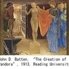 パンドーラー1 ギリシャ神話では,男の誕生については諸説あるようですが.初めて創られた女性はパンドーラ.「火の代償として」「人間どもに 禍い(わざわい)」として創られました.旧約聖書でも人間は神によって創られますが,古事記では人間はいつの間にか存在していた?ただし,三浦 佑之氏による,興味深い指摘があります.