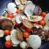 ホタテ稚貝とミニトマトのキッターラ