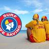 """AUSTRALIA  """"Surf Life saver"""" をモチーフにした赤と黄色のTシャツがかっこいい。"""