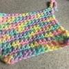 かぎ編みでアクリルたわし。