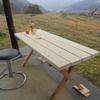 木のガーデンテーブルを製作
