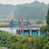 愛本堰堤と沈砂池(富山県黒部)