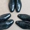 【愛用品】今日の靴磨き。黒靴を黒墨で黒く磨く❗️